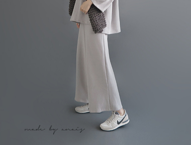 [Shipped the same day] Wide Pants Max - 3c main door Breadth starring Grey Color Add