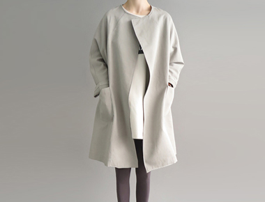 Boxy Coat- khaki cork annual restocking orders congestion Season size F, L Selectable