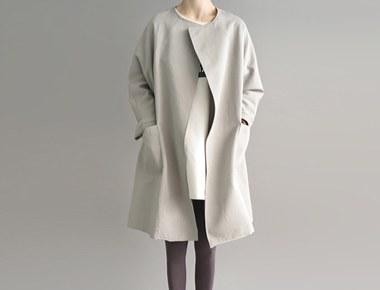 [The day of shipment; cork Boxy Coat- soft khaki Buy Congestion spring season restocked size F, L Selectable