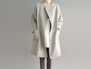 [The day of shipment; cork Boxy Coat- soft khaki Buy Congestion Season restocking size F, L Selectable