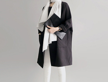 [The day of shipment; Boxy Coat- black cork season restocked size F, L Selectable