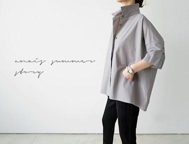 [The day of shipment; deumil Shirt - gray door Breadth week 27th week of the season reorder restocking