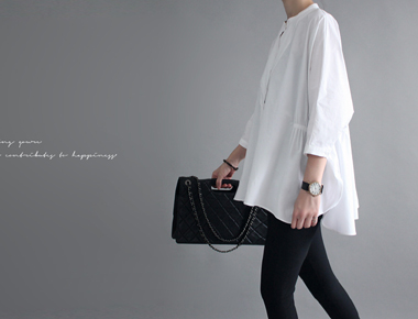 [Shipped the same day] Rouen shearing Blouse - white main door Breadth week