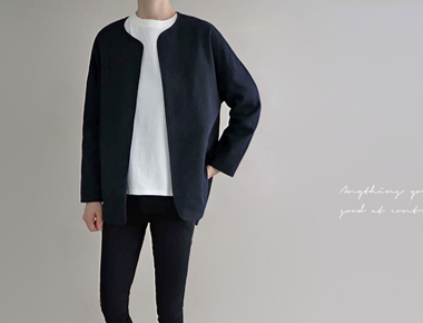 [Shipped the same day] Summer jacket three-Jean Navy's almost close to the black color :)