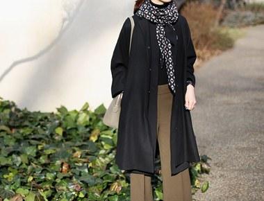 classic a line coat - complete black reorder