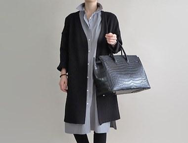 [RANDOM SALE] [same day shipment] Briggs Long coat - black restocking season