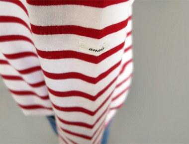 [Shipped the same day] Label Stripe tee-Red2017Season restocking