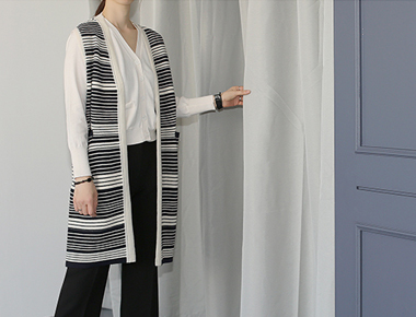 [Shipped the same day] Stripe Knit Best Knitting expensive, Chic color main door Breadth week