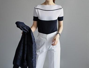 Slim Fit dangara knitted top - 2c