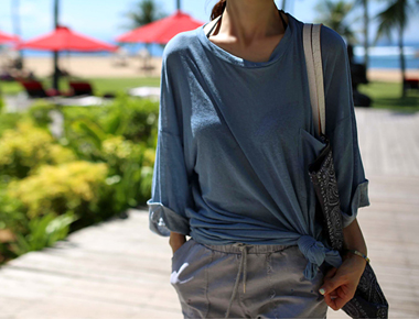 [New phase to the 5%] Linen Boxy Long tee Pigment