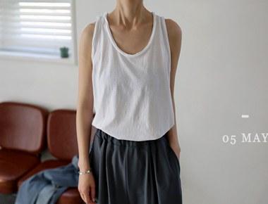 [A new phase to 5%] dekki Sleeveless shirts