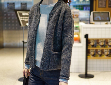 Weed cardigan dotom to love it as a main outer ^^ / door / Breadth / week