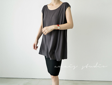 [Factory day] rom a-line Long tee