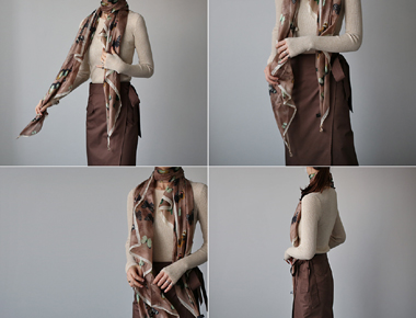 [Shipped the same day] butterfly Silk Scarf Silk 100% Good price ^^