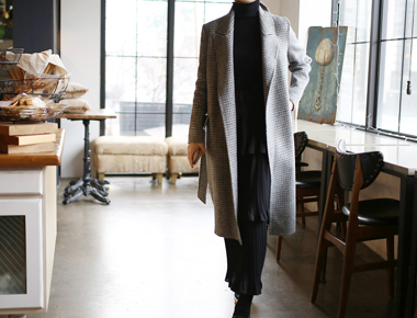 [New phase to the 5%] check handmade coat