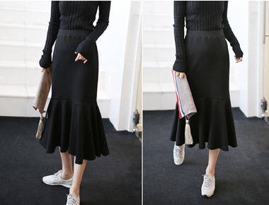 [Shipped the same day] ru. Mermaid Skirt - 2c density, high-quality materials all the way ~ ~ navy color for the summer season only, except three that spring to Add!