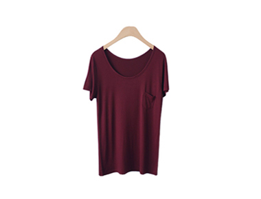 Colin Pocket Tee Slim Line afford moderately cool neckline -