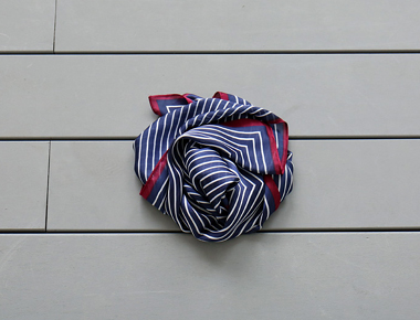 [Shipped the same day] hue Stripe Scarf - 2c