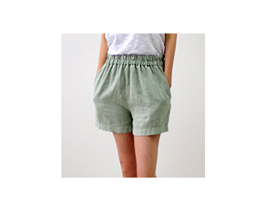 Baldwin Linen Washing Linen Shorts in moderately strong pitter-patter of a very good! ~