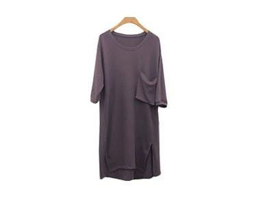 Box pocket long t Dress and Long tee ~ Stock