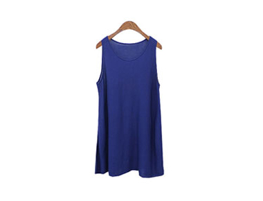 From a line long knit Sleeveless Knit Long Top