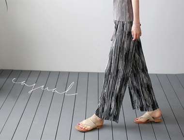 Char Pleats Pants Stylish Color ~ Summer ~