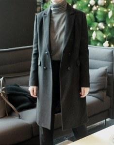 Dover double Coat-Black