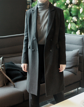 Dover double Coat-Black