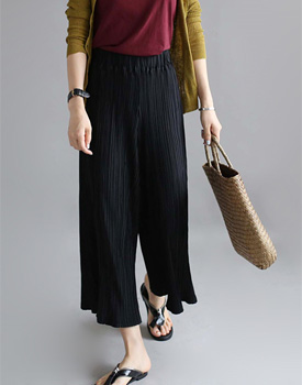 [Shipped the same day] pleats wide pants