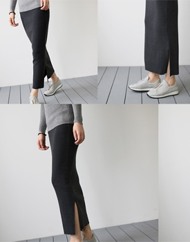 [Shipped the same day] Brook Corrugated Rong skirt - 3c comfortable and looked skinny
