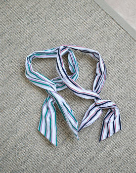 Stripe Bandana - 2csize adjustable so it's not frustrating.