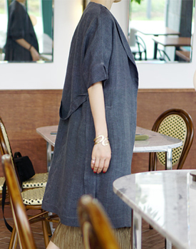 [Same-day shipping] Fourm Linen coat high-priced Linen material