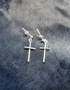 M. Cross earrings
