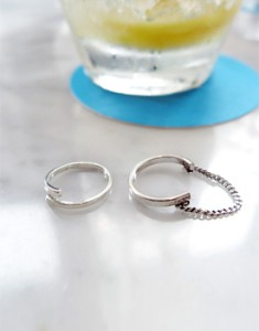 Adjustable size twist ring silver