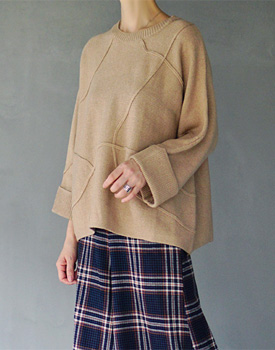 Verga knit - 2c Natural Ramsul Material Luxurious Knitting