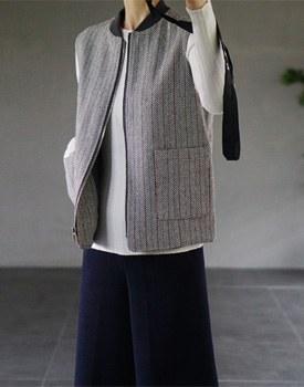 Noort zip-up vest - 2c Semi ~ casual ~