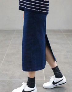 Antwerp denim skirt - 4c napping material shine slightly Stretchy, solid and good material