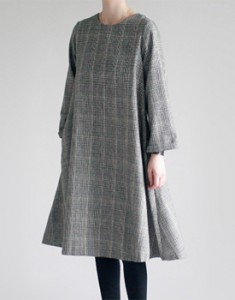 Alley onepiece Glen Check Material feminine wool dress